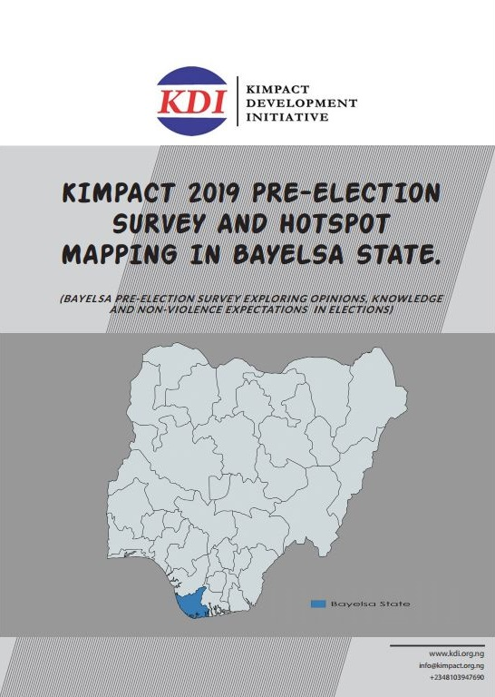 KIMPACT 2019 Pre-election Survey in Bayelsa State