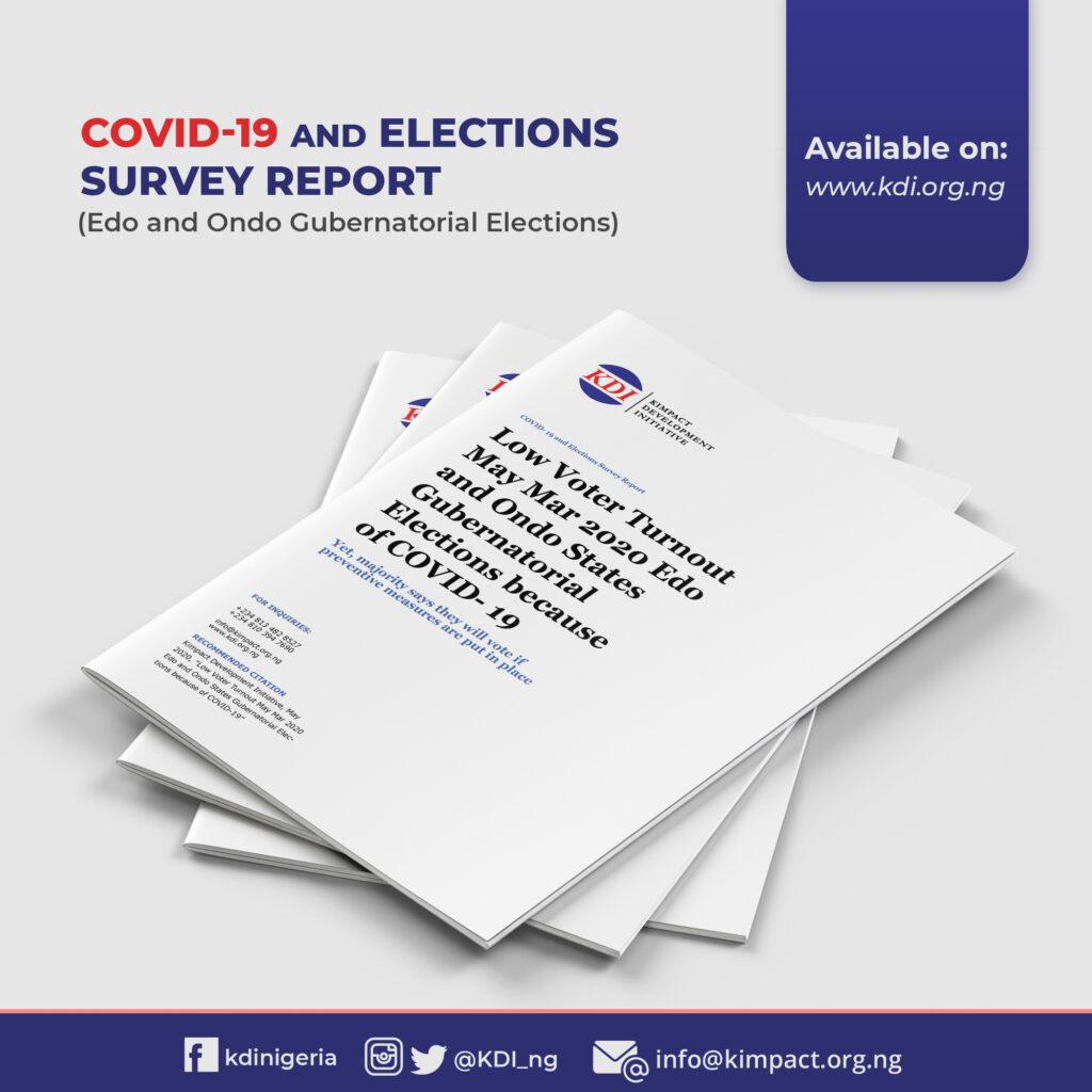 SURVEY REPORT: Edo and Ondo Elections amid COVID-19