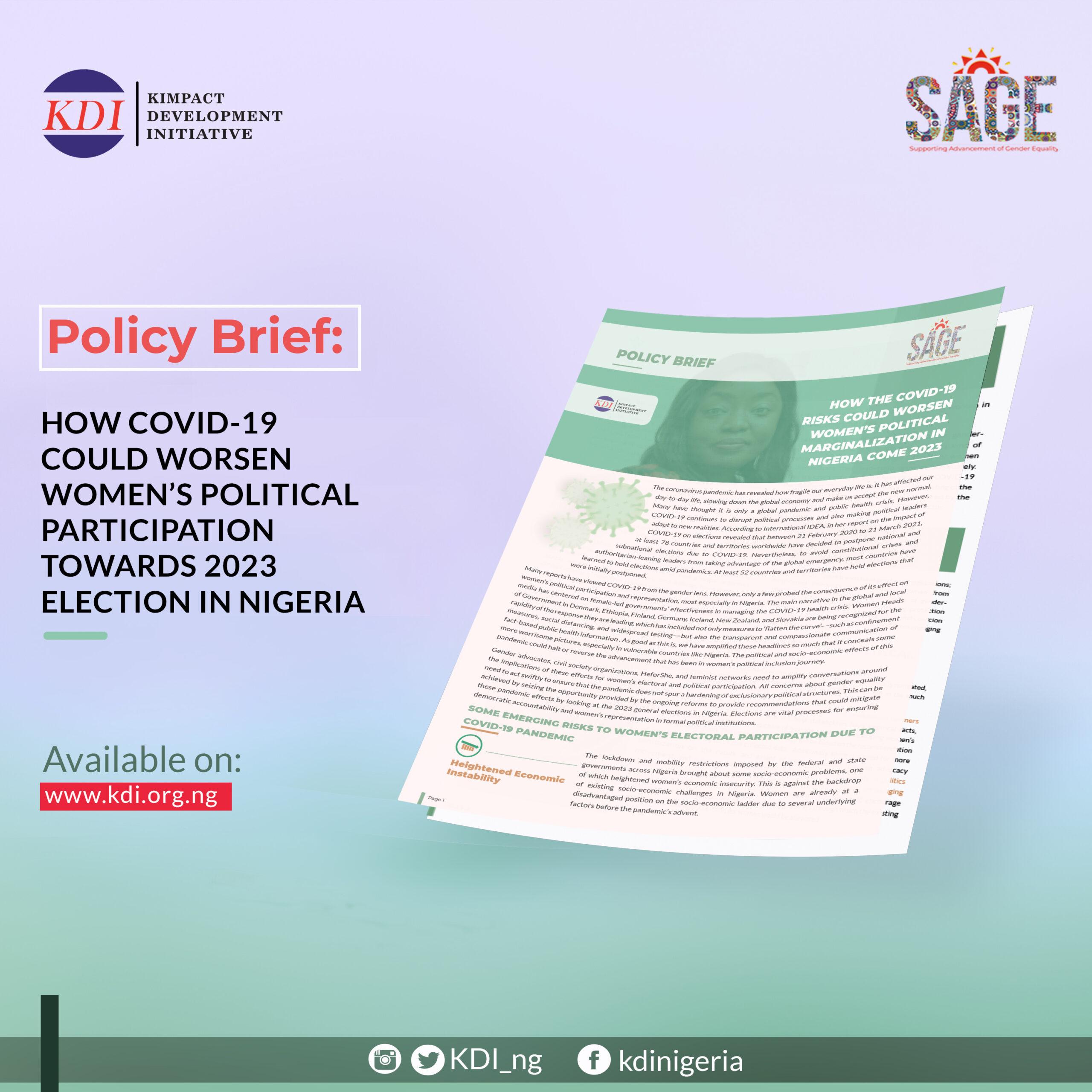 SAGE Policy Brief 1
